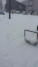 20140111駐車場の雪寄せ2