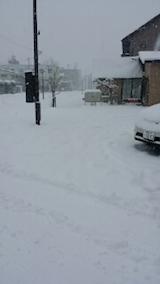 20140111駐車場の雪寄せ3