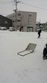 20140111駐車場の雪寄せ5