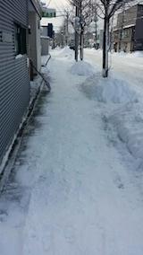 20140113歩道の除雪