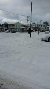 20140112駐車場の雪寄せ1