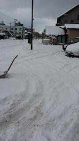 20140112駐車場の雪寄せ2
