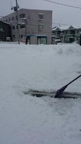 2014012駐車場の雪寄せ4