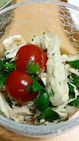 20140609蒸し鶏のサラダ