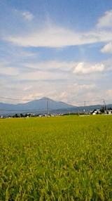 20140910会津磐梯山と田んぼの風景