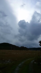 20141202山の入り口から望んだ空の様子