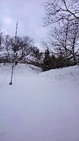 20141206ラベンダー畑へと続く急な坂道の様子