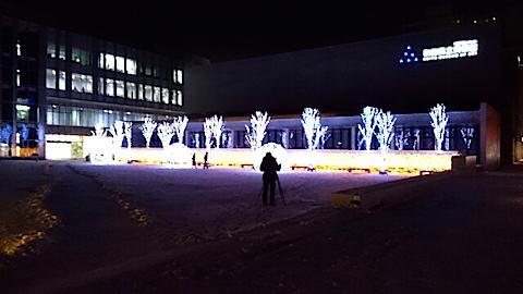 20141206県立美術館前のイルミネーション2