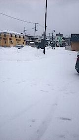 20150110駐車場の雪寄せ1