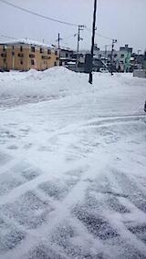 20150110駐車場の雪寄せ2