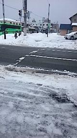 20150110駐車場の雪寄せ3