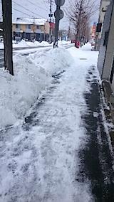 20150110歩道の雪寄せ