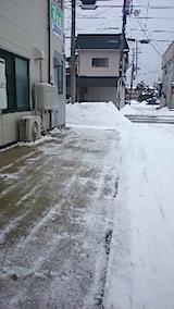 20150110駐車場の雪寄せ4