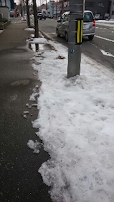 20150126歩道の雪寄せ1