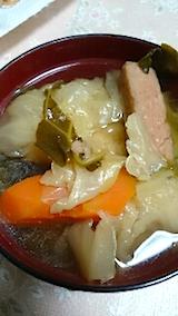 20150211スパム入り野菜スープ
