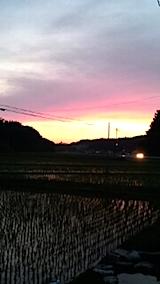20150611山からの帰り道の様子夕焼け