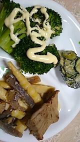 20150616ブロッコリーのサラダと煮つけ
