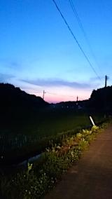 20150618山からの帰り道の様子夕焼け