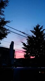 20150708外の様子夕焼け