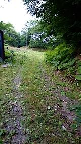 20150708ラベンダーの畑へと続く急な坂道の草刈り後の様子4