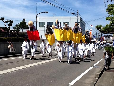 20150712会津美里町お田植えまつり神輿渡御行列1