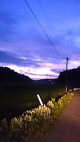 20150713山からの帰り道の様子東の空