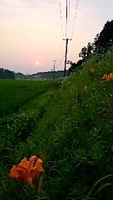 20150715山からの帰り道の様子夕日を追って2
