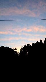 20150716山の様子夕焼け空