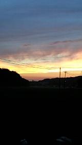 20150716山からの帰り道の様子夕焼け空1
