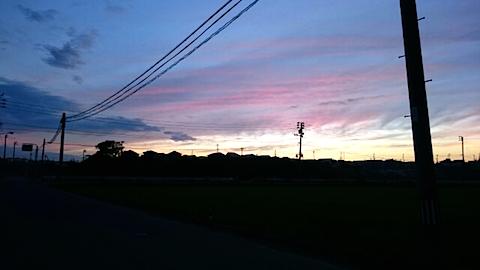 20150716山からの帰り道の様子夕焼け空3
