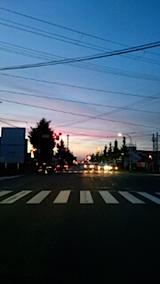 20150716山からの帰り道の様子夕焼け空4