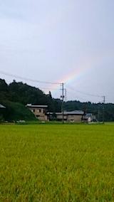 20150904山からの帰り道の様子虹2