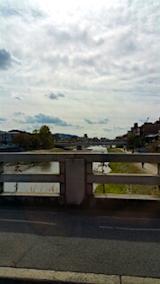 20151031二条大橋より鴨川を望む