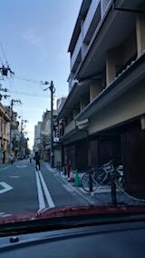 20151031京都のホテル前