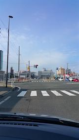 20151130外の様子秋田駅東口前の交差点