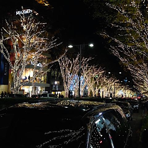 20151204表参道のクリスマスイルミネーション