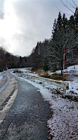 20151204山へ向かう途中の様子峠道2