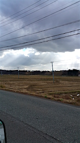 20151205山へ向かう途中の様子田んぼ1