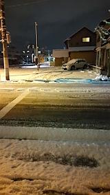 20160108外の様子夜遅く雪寄せ2