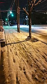 20160108外の様子夜遅く雪寄せ1