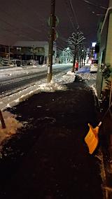 20160108外の様子夜遅く雪寄せ6