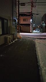 20160108外の様子夜遅く雪寄せ8