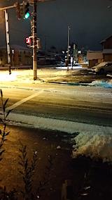 20160108外の様子夜遅く雪寄せ9