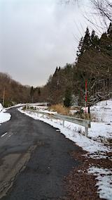 20160109山へ向かう途中の様子峠道