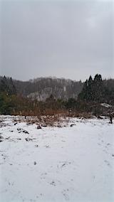 20160109雪の降り出した山の様子