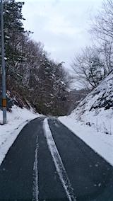 20160109山からの帰り道の様子峠道