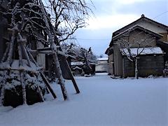 20160110雪の積もった会津の様子1