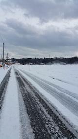 20160110山へ向かう途中の様子雪道