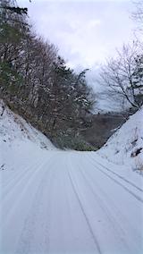 20160111山からの帰り道の様子峠道