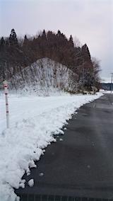 20160113山へ向かう途中の様子除雪車初出動